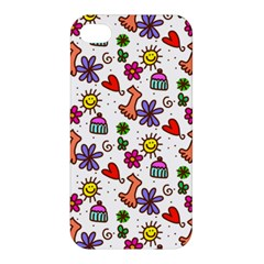 Cute Doodle Wallpaper Pattern Apple Iphone 4/4s Hardshell Case