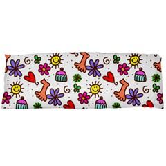 Cute Doodle Wallpaper Pattern Body Pillow Case Dakimakura (two Sides)
