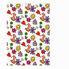 Cute Doodle Wallpaper Pattern Small Garden Flag (two Sides) by BangZart