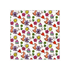 Cute Doodle Wallpaper Pattern Acrylic Tangram Puzzle (4  X 4 ) by BangZart