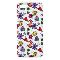 Cute Doodle Wallpaper Pattern Apple Iphone 5 Premium Hardshell Case by BangZart