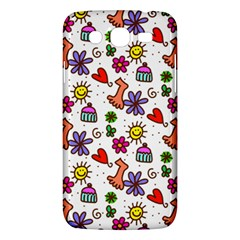 Cute Doodle Wallpaper Pattern Samsung Galaxy Mega 5 8 I9152 Hardshell Case  by BangZart