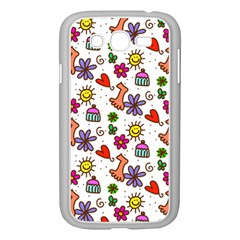 Cute Doodle Wallpaper Pattern Samsung Galaxy Grand Duos I9082 Case (white) by BangZart