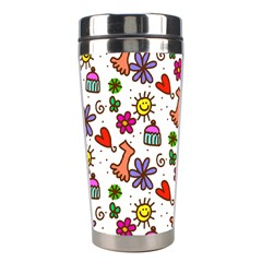 Cute Doodle Wallpaper Pattern Stainless Steel Travel Tumblers