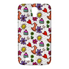Cute Doodle Wallpaper Pattern Samsung Galaxy Mega 6 3  I9200 Hardshell Case