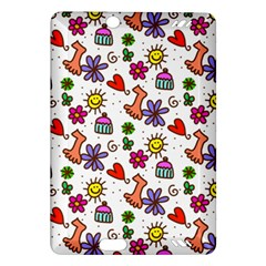 Cute Doodle Wallpaper Pattern Amazon Kindle Fire Hd (2013) Hardshell Case by BangZart