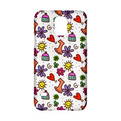 Cute Doodle Wallpaper Pattern Samsung Galaxy S5 Hardshell Case  by BangZart