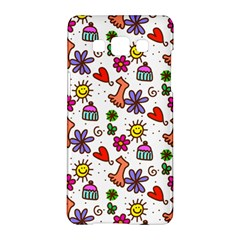 Cute Doodle Wallpaper Pattern Samsung Galaxy A5 Hardshell Case  by BangZart