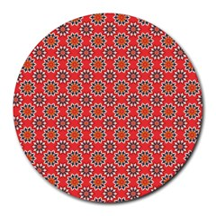Floral Seamless Pattern Vector Round Mousepads by BangZart