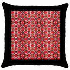 Floral Seamless Pattern Vector Throw Pillow Case (black) by BangZart