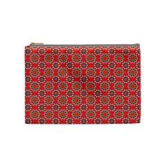 Floral Seamless Pattern Vector Cosmetic Bag (medium)