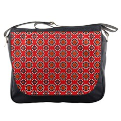 Floral Seamless Pattern Vector Messenger Bags by BangZart