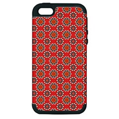 Floral Seamless Pattern Vector Apple Iphone 5 Hardshell Case (pc+silicone) by BangZart