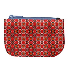 Floral Seamless Pattern Vector Large Coin Purse
