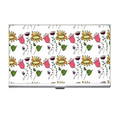 Handmade Pattern With Crazy Flowers Business Card Holders by BangZart