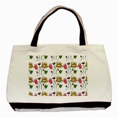 Handmade Pattern With Crazy Flowers Basic Tote Bag by BangZart
