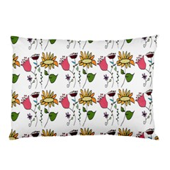 Handmade Pattern With Crazy Flowers Pillow Case