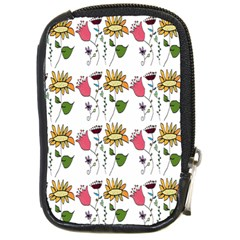 Handmade Pattern With Crazy Flowers Compact Camera Cases by BangZart