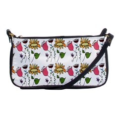 Handmade Pattern With Crazy Flowers Shoulder Clutch Bags by BangZart