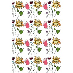 Handmade Pattern With Crazy Flowers 5 5  X 8 5  Notebooks by BangZart