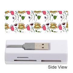 Handmade Pattern With Crazy Flowers Memory Card Reader (stick)
