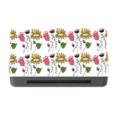 Handmade Pattern With Crazy Flowers Memory Card Reader With Cf by BangZart