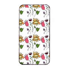 Handmade Pattern With Crazy Flowers Apple Iphone 4/4s Seamless Case (black) by BangZart
