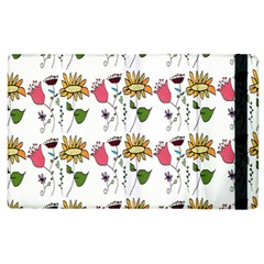 Handmade Pattern With Crazy Flowers Apple Ipad 3/4 Flip Case by BangZart