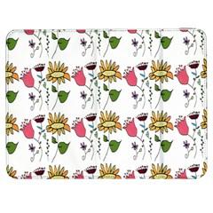 Handmade Pattern With Crazy Flowers Samsung Galaxy Tab 7  P1000 Flip Case