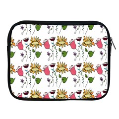Handmade Pattern With Crazy Flowers Apple Ipad 2/3/4 Zipper Cases by BangZart