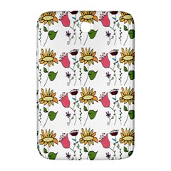 Handmade Pattern With Crazy Flowers Samsung Galaxy Note 8 0 N5100 Hardshell Case