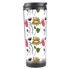 Handmade Pattern With Crazy Flowers Travel Tumbler by BangZart