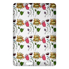 Handmade Pattern With Crazy Flowers Amazon Kindle Fire Hd (2013) Hardshell Case by BangZart