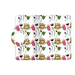 Handmade Pattern With Crazy Flowers Kindle Fire Hd (2013) Flip 360 Case by BangZart