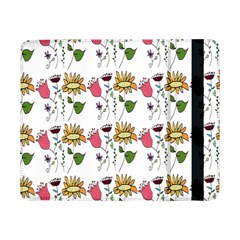 Handmade Pattern With Crazy Flowers Samsung Galaxy Tab Pro 8 4  Flip Case