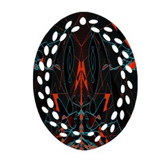 Doodle Art Pattern Background Oval Filigree Ornament (two Sides) by BangZart