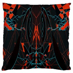Doodle Art Pattern Background Large Cushion Case (one Side) by BangZart