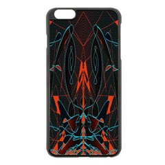 Doodle Art Pattern Background Apple Iphone 6 Plus/6s Plus Black Enamel Case by BangZart
