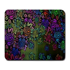 Grunge Rose Background Pattern Large Mousepads