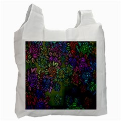 Grunge Rose Background Pattern Recycle Bag (two Side)