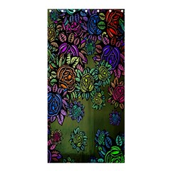 Grunge Rose Background Pattern Shower Curtain 36  X 72  (stall)  by BangZart