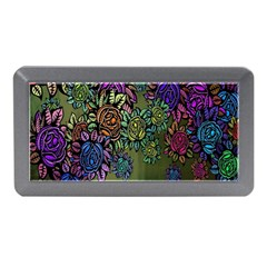 Grunge Rose Background Pattern Memory Card Reader (mini) by BangZart