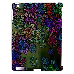 Grunge Rose Background Pattern Apple Ipad 3/4 Hardshell Case (compatible With Smart Cover) by BangZart