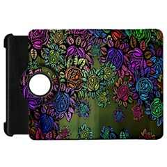 Grunge Rose Background Pattern Kindle Fire Hd 7  by BangZart