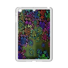 Grunge Rose Background Pattern Ipad Mini 2 Enamel Coated Cases by BangZart