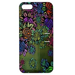 Grunge Rose Background Pattern Apple Iphone 5 Hardshell Case With Stand by BangZart