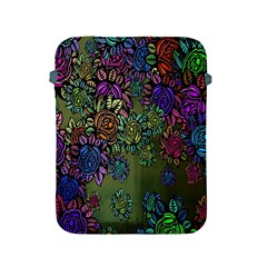 Grunge Rose Background Pattern Apple Ipad 2/3/4 Protective Soft Cases by BangZart