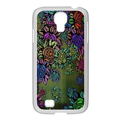 Grunge Rose Background Pattern Samsung Galaxy S4 I9500/ I9505 Case (white) by BangZart