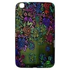 Grunge Rose Background Pattern Samsung Galaxy Tab 3 (8 ) T3100 Hardshell Case  by BangZart