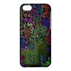 Grunge Rose Background Pattern Apple Iphone 5c Hardshell Case by BangZart
